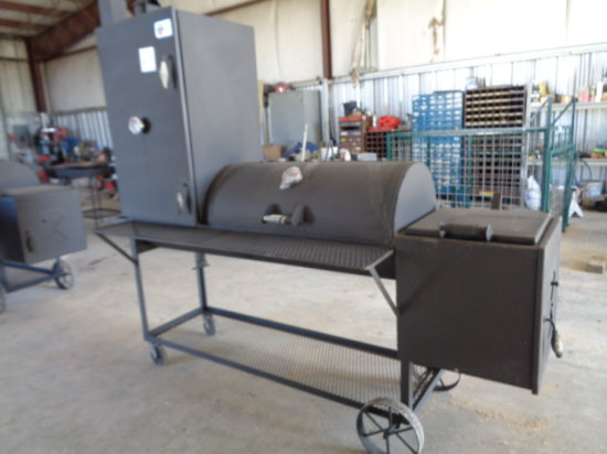 3' GRILL WITH 2' FIRE PIT & 4' SMOKER