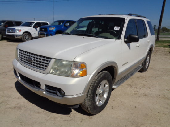 2002 FORD EXPLORER WHITE,AUTO,4.0 GAS,LIMITED EDITION,4DR,SUV VIN/SN:1FM2U6