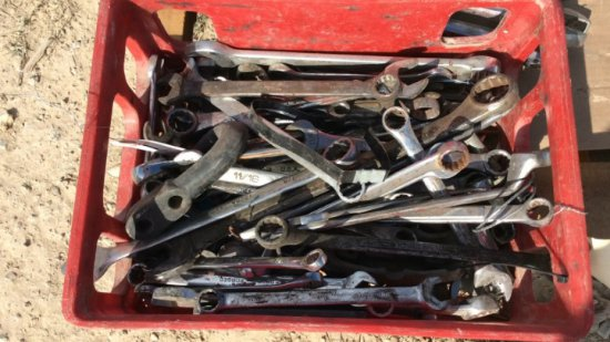 BASKET OF MISC WRENCHES