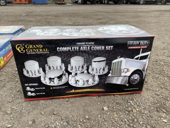 Chrome Plastic Complete Axle Cover Set