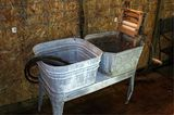 Galvanized 2 Bucket Wash Stand W/Ringer