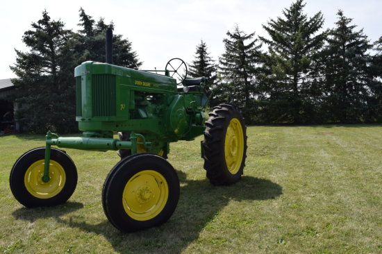 '56 Rare JD 70 HIGH CROP DIESEL TRACTOR W/PONY MOTOR START•NEW RUBBER•SHOW QUALITY•WIDE FRONT•ONE OF