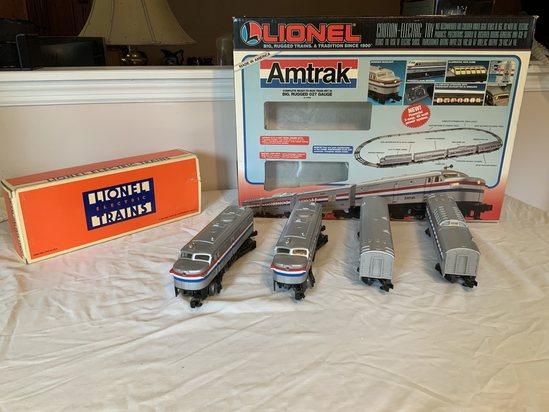 Lionel Amtrak Train Set and Amtrak Engine