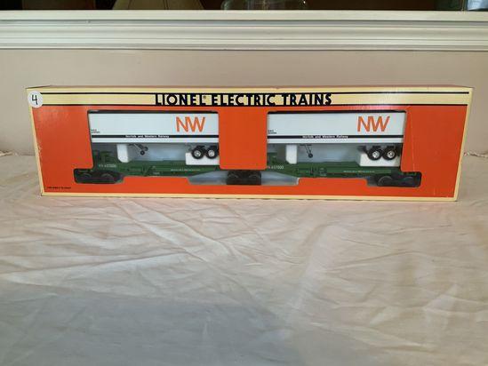 Lionel Norfolk & Western Railway Semi Trailer Rail Car Set
