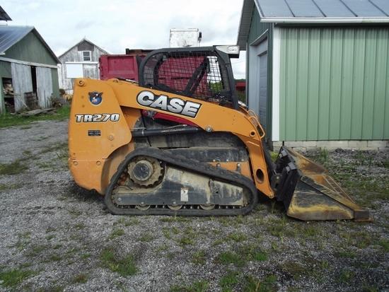 2013 CASE CONSTRUCTION TR270 Diesel skid loader on rubber tracks, Control Ride & ONLY 430 Hrs. (SN V