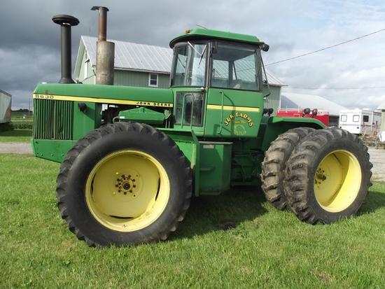 1975 JOHN DEERE 8630 4WD w/CHA, 2SCVs, 18.4-38 rubber & duals 5022Hrs. (SN 0012195R)