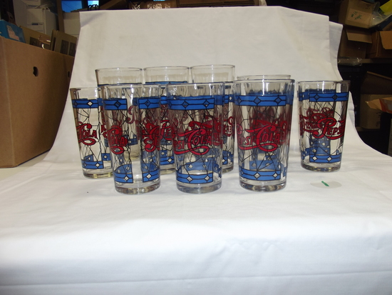 (13) Pepsi-Cola Cups (Stain glass)