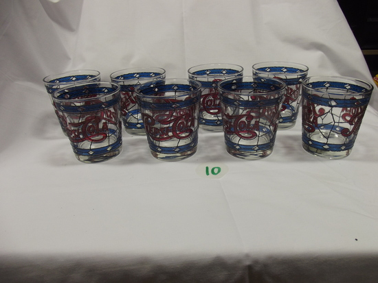 Pepsi-Cola cups (16) Stain Glass