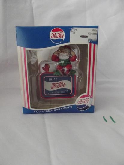 "Pepsi Santa ""Hit The Spot "" Ornament"