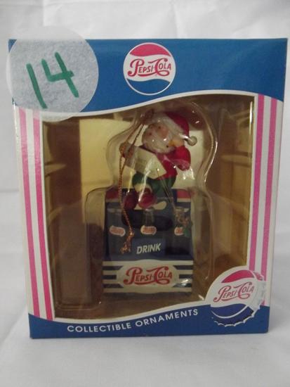Pepsi Santa 6 Pack of Pepsi Ornament