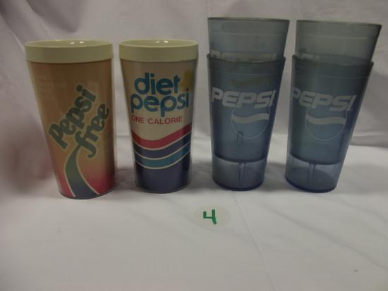 Plastic Pepsi(4), Diet Pepsi(1) & Pepsi Free