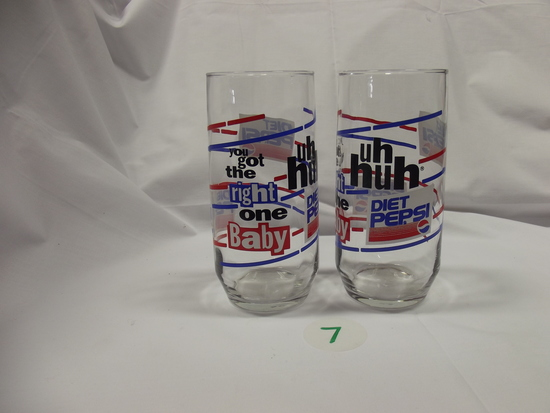 Diet Pepsi (You got the right one baby, uh huh) cups, (2) tall (11) short
