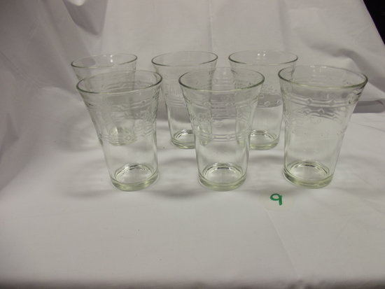 Pepsi-Cola cups (6) Clear