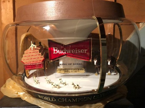 Budweiser Limited Edition Clydesdale Parade Rotating Carousel Light