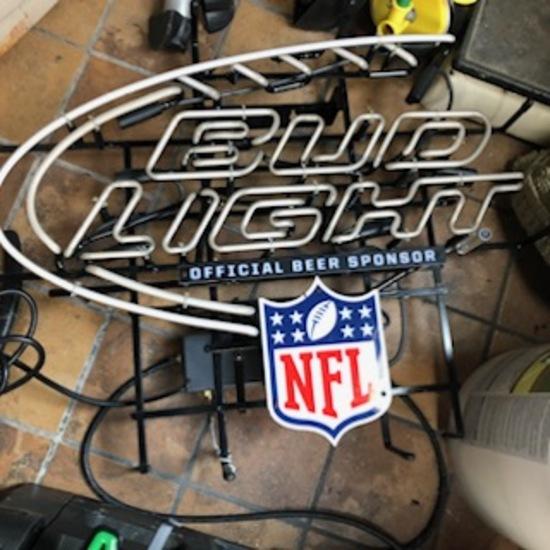 Bud Light Official Beer Sponsor of NFL Sign