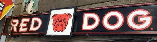 Red Dog Beer Sign