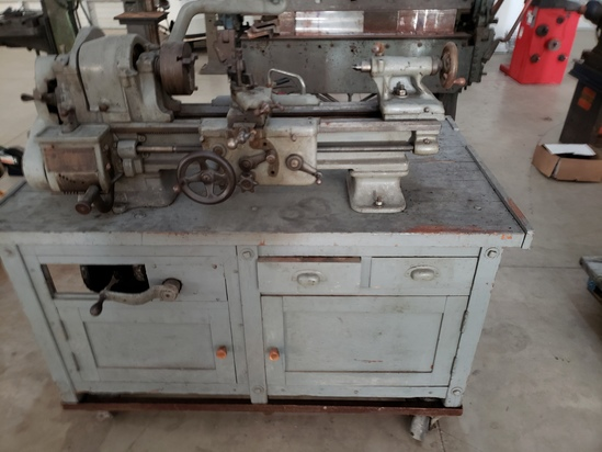 South bend Lathe with work table, sold as one unit