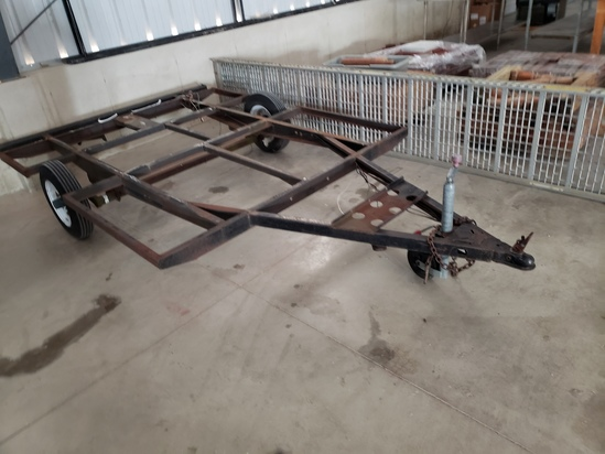 2 wheeled trailer frame only 6.5x7