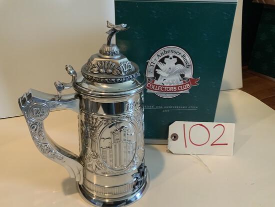 Collectors Club 2001 Budweiser 125th Anniversary Stein