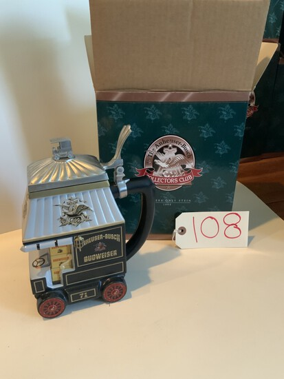 """Collectors Club 1998 """"EARLY DELIVERY DAYS"""" MEMBERS ONLY STEIN"""