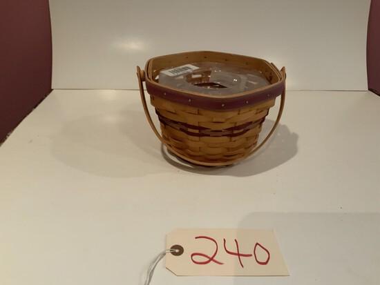 Longaberger Octagon basket w/ protective liner