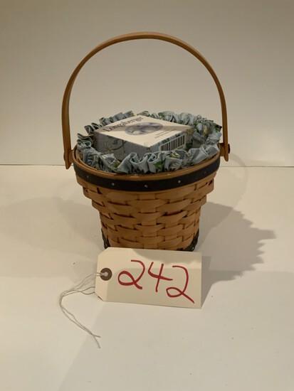 Longaberger Basket Tissue 1999 basket handwoven