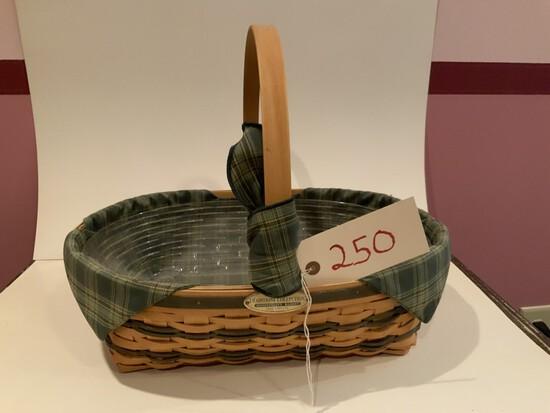Longaberger Basket 1998 Traditions Hospitality Basket w/ clear & protective Liner