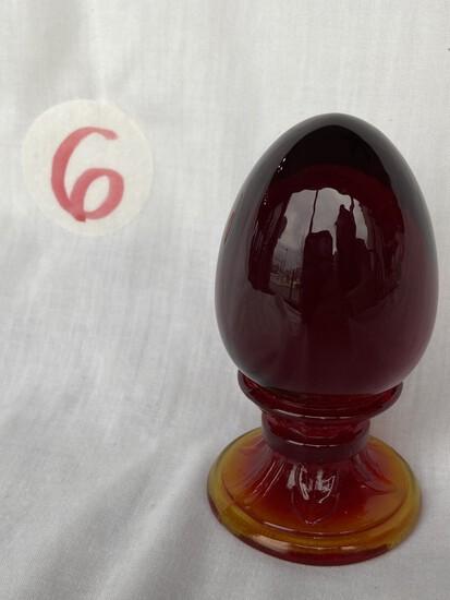 Fenton Pedestal Egg