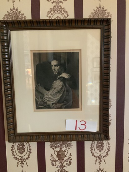 Andrea Del Sarto 1487-1531 (his own portrait) etched by A. Mongin/flower heart home interiors
