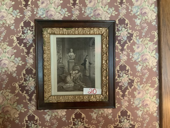 Victorian picture w/ antique frame