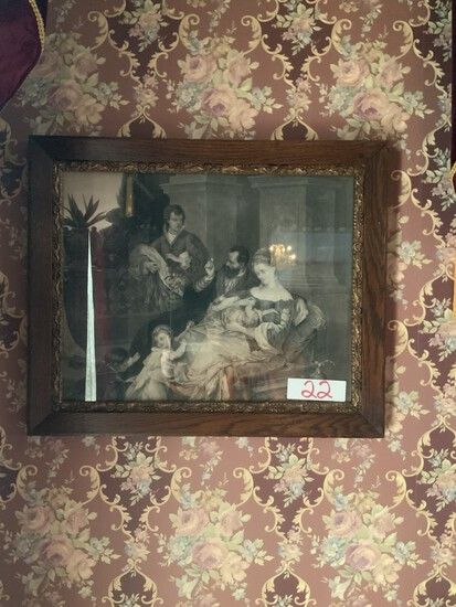 early Victorian picture with frame