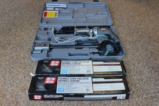 Senco Dura Spin Screw Fastening System and 2 boxes of Drywall Screws