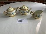 O & E.G. Royal Austria 3 Piece Creamer, Sugar and Tea Pot