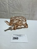 Pink Glass Elephant with lid