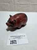 Metal Red Pig Advertising Tiffin Savings Bank