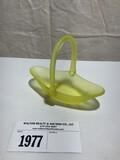 Tiffin Small Satin Yellow Basket