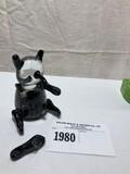 Glass Panda Bear Paperweight (Legs have some repairs)