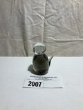 Tiffin Smoke and Clear Cat Paperweight