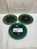 Tiffin Killarney Green Assorted Plates with Different Decoration