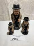 Royal Doulton Set of 3 Winston Churchill Pitchers
