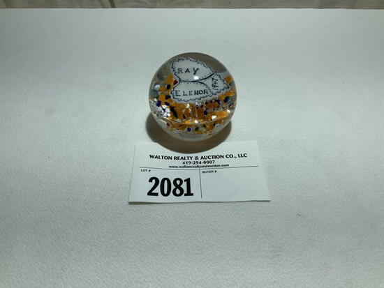 Paperweight, Personalized 1947, Tiffin