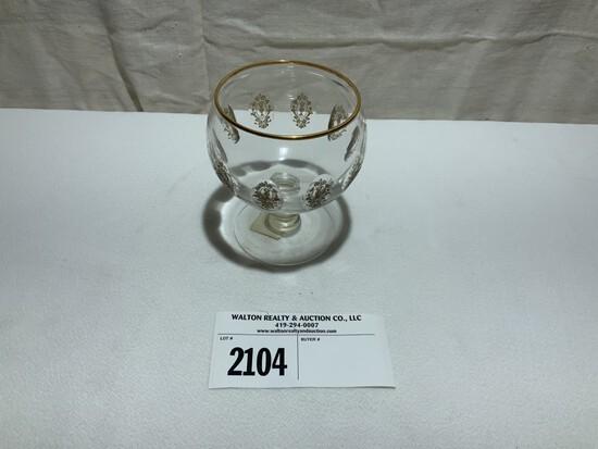 "Tiffin Palaigh Versailles Stemmed Glass 4 1/2"" tall"