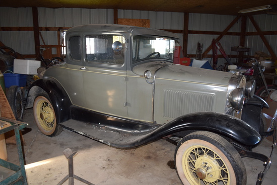 '30 FORD MOD. A, w/2 Dr. Hard top, rumble seats & finder running boards (works)