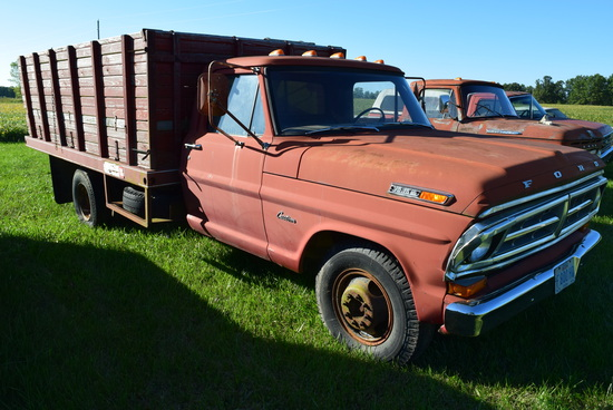 FORD 350 w/ 12' Midwest grain bed, (60,000 mi.);