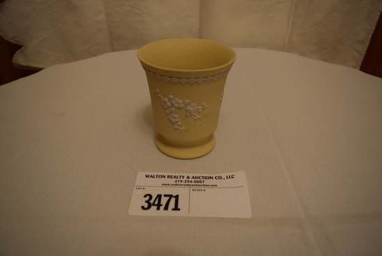 Yellow Wedgewood Vase