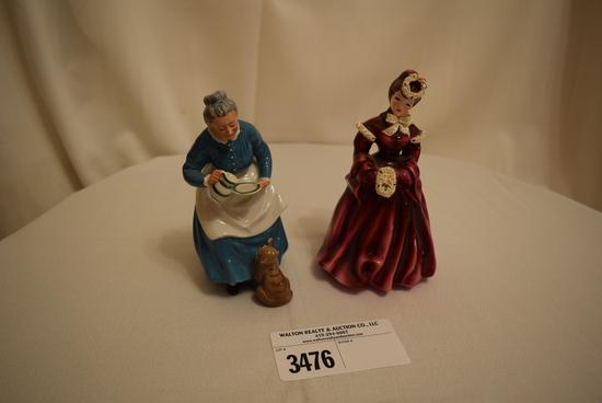 "Royal Doulton ""The Favourite"" and Florence Ceramics Pasadena, CA ""Dalia"""