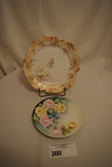 Small Austria Plate and Large Hand Painted Plate