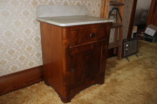 Wash Stand-Marble Top and Backsplash-burled