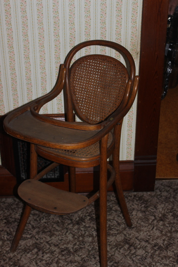 Wooden childs high chair