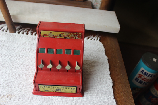 Toy Cash Register with Tokens